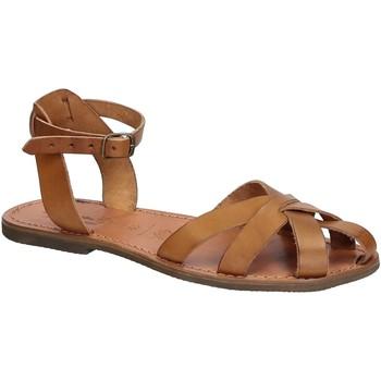 Pantofi Femei Sandale  Gianluca - L'artigiano Del Cuoio 503 D CUOIO GOMMA Cuoio