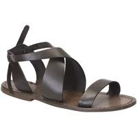 Pantofi Femei Sandale  Gianluca - L'artigiano Del Cuoio 570 D FANGO CUOIO Fango