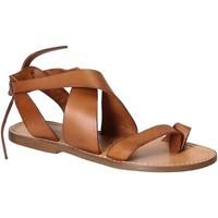Pantofi Femei Sandale  Gianluca - L'artigiano Del Cuoio 571 D CUOIO CUOIO Cuoio
