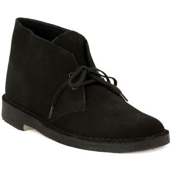 Pantofi Bărbați Ghete Clarks DESERT BOOT BLACK Nero
