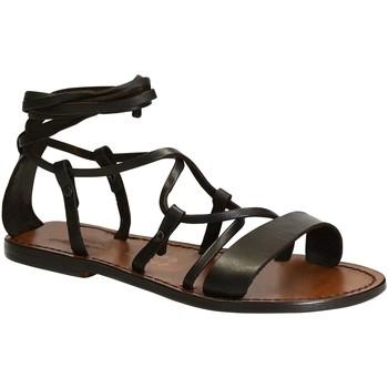 Pantofi Femei Sandale  Gianluca - L'artigiano Del Cuoio 519 D MORO CUOIO Testa di Moro