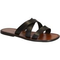 Pantofi Bărbați Papuci de vară Gianluca - L'artigiano Del Cuoio 546 U MORO CUOIO Testa di Moro