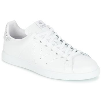 Pantofi Femei Pantofi sport Casual Victoria DEPORTIVO BASKET PIEL Alb / Argintiu