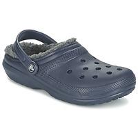 Pantofi Saboti Crocs CLASSIC LINED CLOG Bleumarin / Gri