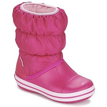 Încăltăminte Fete Cizme de zapadă Crocs WINTER PUFF BOOT KIDS Roz