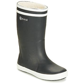 Pantofi Copii Cizme de ploaie Aigle LOLLY POP FUR Bleumarin