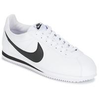 Încăltăminte Bărbați Pantofi sport Casual Nike CLASSIC CORTEZ LEATHER Alb / Negru