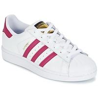 Încăltăminte Fete Pantofi sport Casual adidas Originals SUPERSTAR FOUNDATIO Alb