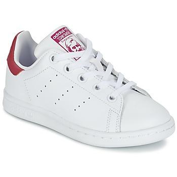 Pantofi Fete Pantofi sport Casual adidas Originals STAN SMITH EL C Alb / Roz