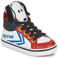 Încăltăminte Copii Pantofi sport stil gheata Feiyue DELTA MID PEANUTS Alb / Negru / Roșu