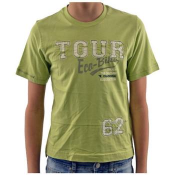 Îmbracaminte Copii Tricouri mânecă scurtă Diadora  verde