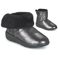 Pantofi Femei Ghete FitFlop SUPERCUSH MUKLOAFF SHIMMER Argintiu