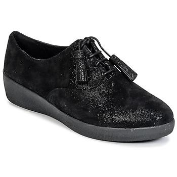 Încăltăminte Femei Pantofi Derby FitFlop CLASSIC TASSEL SUPEROXFORD Negru