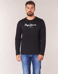 Îmbracaminte Bărbați Tricouri cu mânecă lungă  Pepe jeans EGGO LONG Negru