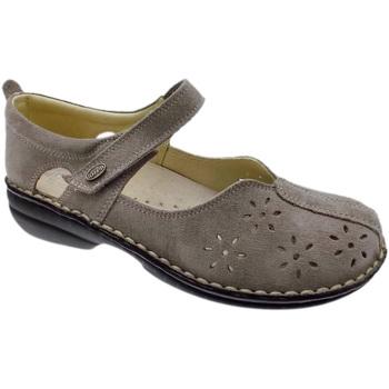 Pantofi Femei Balerin și Balerini cu curea Calzaturificio Loren LOM2313ta tortora