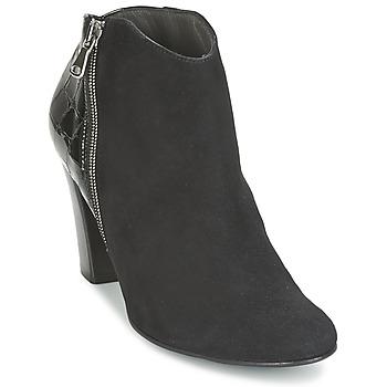 Pantofi Femei Botine France Mode NANTES Negru / Verni