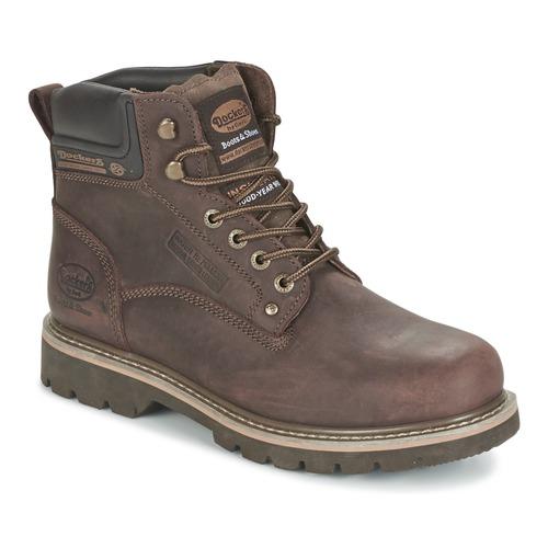 Pantofi Bărbați Ghete Dockers by Gerli IRETOK Cafea