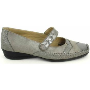 Pantofi Femei Balerin și Balerini cu curea Boissy Ballerine Lunel Gris Beige Gri