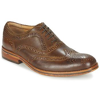 Încăltăminte Bărbați Pantofi Derby Hudson KEATING CALF Brown