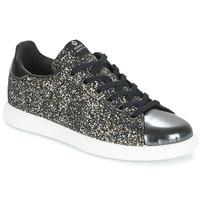 Încăltăminte Femei Pantofi sport Casual Victoria DEPORTIVO BASKET GLITTER Negru