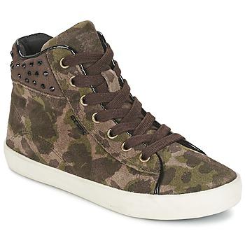 Pantofi Fete Pantofi sport stil gheata Geox KIWI GIRL Verde