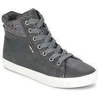 Pantofi Fete Pantofi sport stil gheata Geox KIWI GIRL Gri