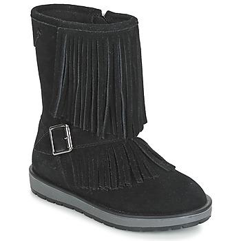 Pantofi Fete Ghete Geox NOHA Negru