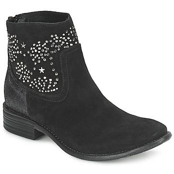 Pantofi Femei Botine Meline VELOURS STARTER Negru