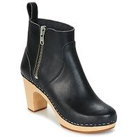 Pantofi Femei Botine Swedish hasbeens ZIP IT SUPER HIGH Negru