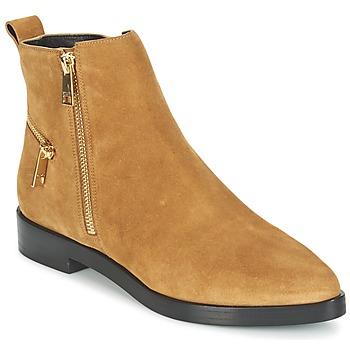 Pantofi Femei Ghete Kenzo TOTEM FLAT BOOTS Camel