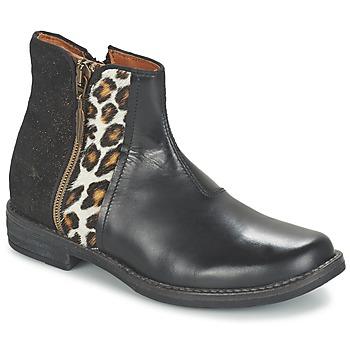 Pantofi Fete Ghete Shwik TIJUANA WILD Negru / Leopard