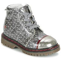 Pantofi Fete Ghete GBB NEVA Gri / Imprimeuri
