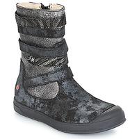 Pantofi Fete Cizme casual GBB NOURIA Negru /  metalizat