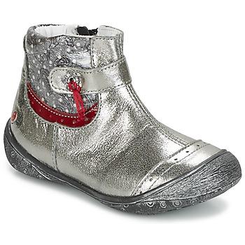 Pantofi Fete Ghete GBB NYMPHE Gri / Imprimeuri