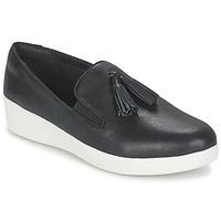 Pantofi Femei Pantofi Slip on FitFlop TASSEL SUPERSKATE Negru