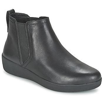 Pantofi Femei Ghete FitFlop SUPERCHELSEA BOOT Negru