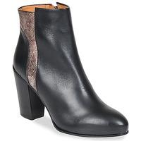 Pantofi Femei Botine Emma Go BOWIE Negru / Metalic