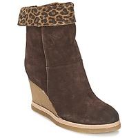 Pantofi Femei Botine Vic VANCOVER GUEPARDO Maro / Leopard