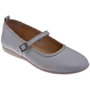 Pantofi Copii Balerin și Balerini cu curea Inblu  Alb