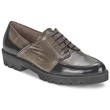Pantofi Femei Pantofi Derby Wonders CAMMA Negru / Gri