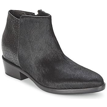 Pantofi Femei Ghete Alberto Gozzi PONY NERO Negru