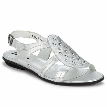 Pantofi Femei Sandale și Sandale cu talpă  joasă Fidji BARRETA Silver