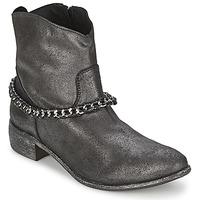 Pantofi Femei Ghete Meline VUTIO Negru /  metalizat