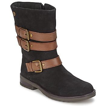 Pantofi Fete Cizme casual Gioseppo HALIFAX Negru