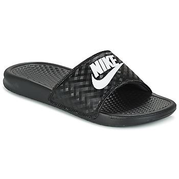 Pantofi Femei Șlapi Nike BENASSI JUST DO IT W Negru / Alb