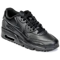 Încăltăminte Copii Pantofi sport Casual Nike AIR MAX 90 LEATHER GRADE SCHOOL Negru