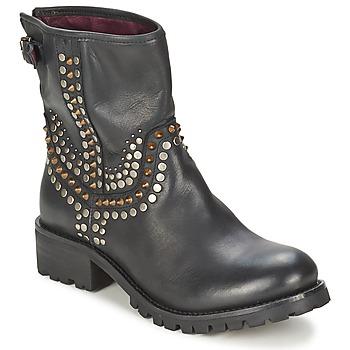 Pantofi Femei Ghete Ikks SEATTLE-PREMIUM Negru