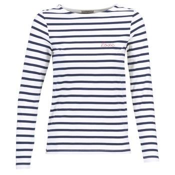 Îmbracaminte Femei Tricouri cu mânecă lungă  Betty London IFLIGEME Alb / Albastru
