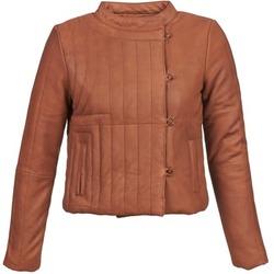 Îmbracaminte Femei Jachete din piele și material sintetic Antik Batik YOANN Coniac