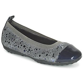 Pantofi Fete Balerin și Balerini cu curea Geox JR PIUMA BALLERINE Gri / Culoare închisă